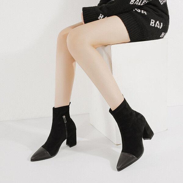botas cuadrado 10 negro ante 1593 elegantes como piel 1593 ante d9689a