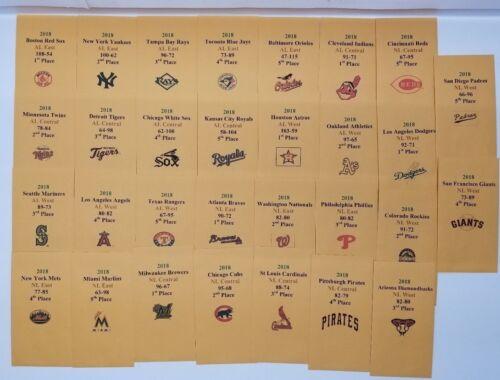 2018 Strat-O-Matic Baseball Printed Storage Envelopes with Stats and Logo.
