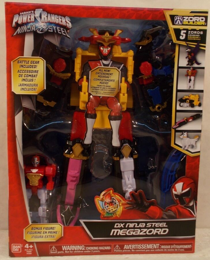 Power Rangers Ninja Steel Deluxe DX Megazord With Bonus Figure 5 Zords Combine