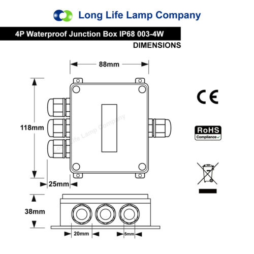 Waterproof Junction Box Underground Cable Line Protection Sleeve Connectors IP66