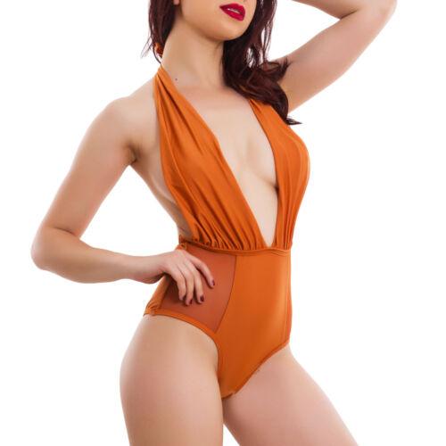 Costume donna intero da bagno moda mare piscina swimwear inserti velati D-843