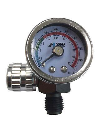 ANEST IWATA Hand Pressure Gauge AJR-02S-VG Air Regulator for Spray Guns