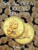 Sacagawea Dollar Coin Folder Album 1 2000-2004 P&d By H.e. Harris