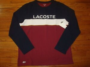 LACOSTE-LONG-SLEEVE-TOP-SLEEPWEAR-SIZE-6-L