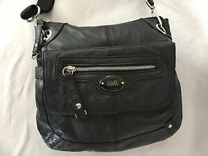 Black 2x10x12 Faux Leather Tyler Rodan Shoulder Bag Purse W 42 Adj