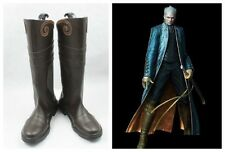 Devil May Cry 3 Dmc3 Vergil Cosplay Costume Boots Boot Shoes Shoe