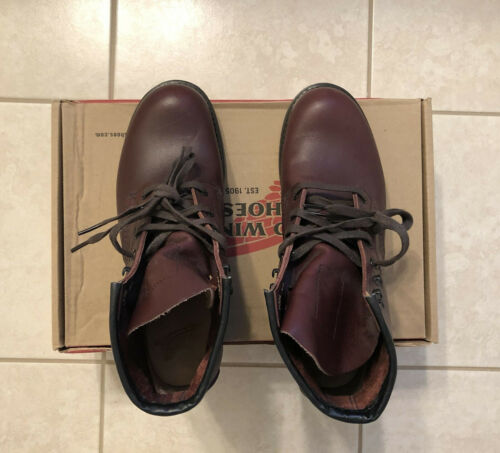 "RED WING 9062 Beckman ""Flat Box"" Black CherryFeat"
