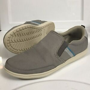 CROCS-Torino-Slip-On-Size-8-Casual-Shoes-Gray-Grey-Light-Blue-Accents-203961