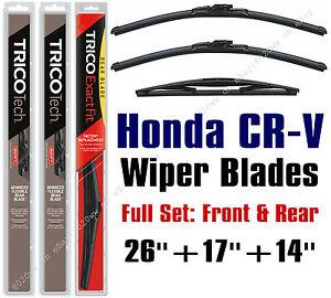 2007 2008 2009 2010 2011 honda cr v wiper blades 3pk front for Honda crv rear wiper motor