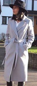 Coat Mac til Wrap Trench Popper 4 Lang Midi Bæltet Asos 18 Grå S6XqIxwA