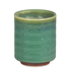 "Japanese 3.25"" H Porcelain Yunomi Tea Cup/Spruce Green/Made in Japan"