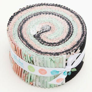 40-2-5-034-STRIPS-ROLIE-POLIE-BLISS-by-My-Mind-039-s-Eye-034-JELLY-ROLL-034-black-pink-mint