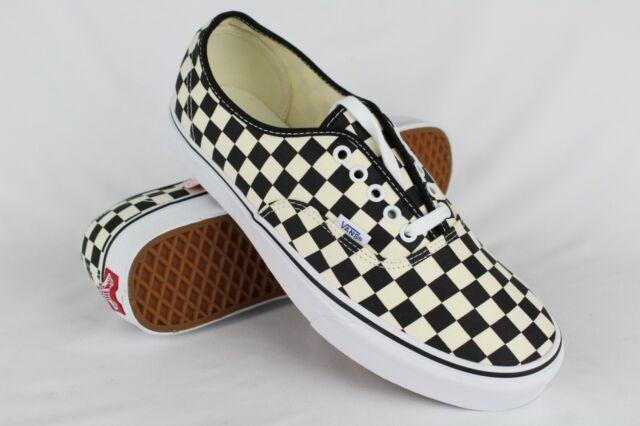 Vans Men's Golden Coast Authentic Checkerboard Size 11 Black White