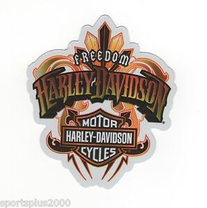 "GENUINE HARLEY DAVIDSON SIGNATURE SHIELD 4-1//4/"" INDOOR BLACK STICKER DECAL!"