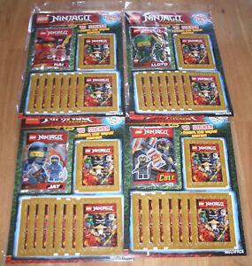 Lego-Ninjago-Legacy-Sticker-Tous-les-4-Multipack-avec-4-miniguren-NOUVEAU-amp-NEUF-dans-sa-boite