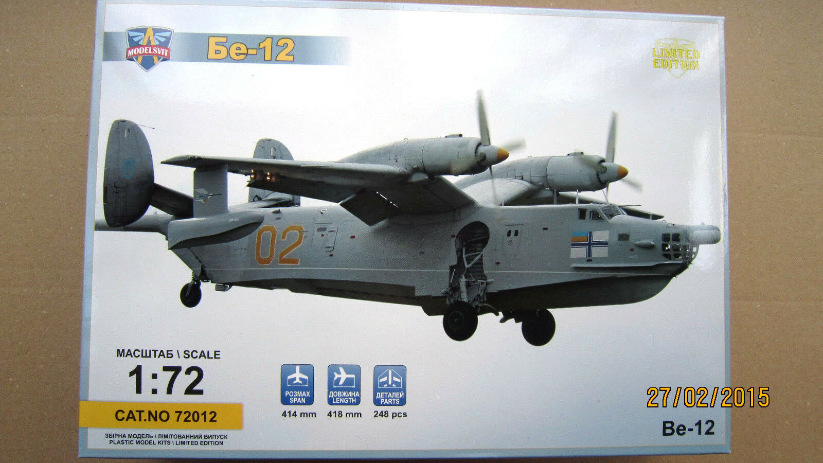 Beriev Be-12 Soviet amphibious aircraft 'Chayka'  1 72 Modelsvit
