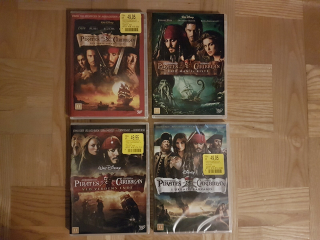 Pirates of the Caribbean, 4 DVD, DVD, eventyr, Pirates of…