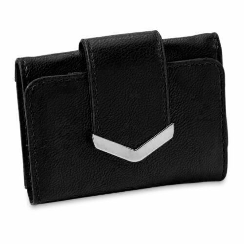 Jaclyn Smith Collection Womens Accessory Compact Trifold Black Wallet New  F3