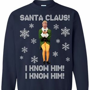 47ea107c4a Donnie The ELF Sweatshirt, Funny Donald Trump Ugly Christmas Sweater ...