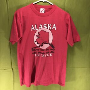 Vintage-1990-Alaska-Iditarod-T-Shirt-Men-s-Size-Medium