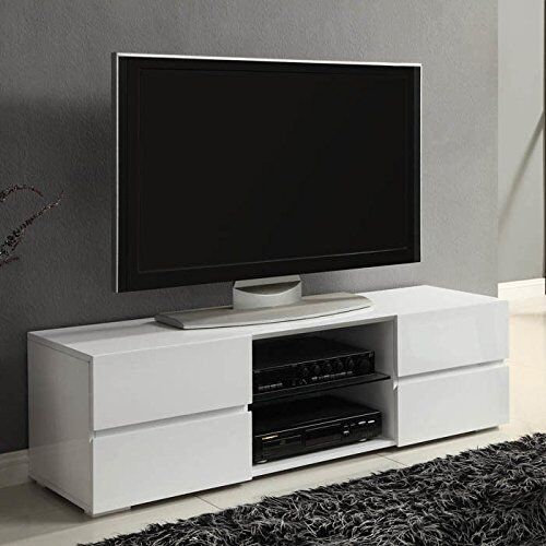 Modern TV Stand Media Entertainment Center Console Cabinet Drawers ...