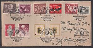 ** Allemagne Couverture Sc # 728-33 + Berlin 9n104, 107, 112 To Usa-afficher Le Titre D'origine