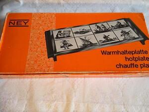 Placa-caliente-Ney-Vintage-Calientaplatos-Olivia-Delft-Blau-Warmhalteplatte-CHAUFFE-Plat