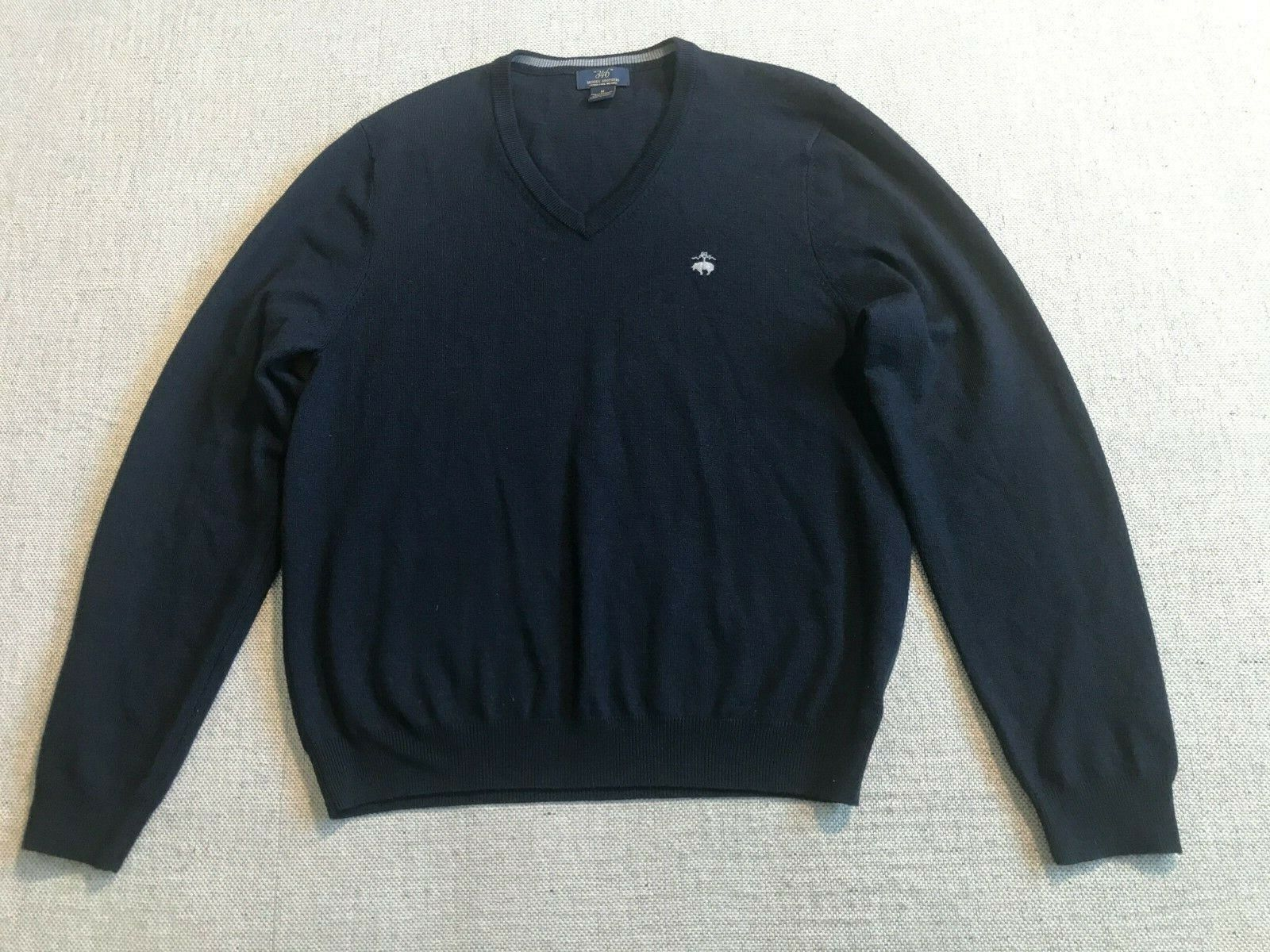 Brooks Bredhers 346 Women's Pull Over Sweater Top Merion Wool Blend Sz M  B2