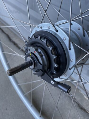 Shimano Nexus Inter8 Hub w// 700c Wheel, CJ-8S20 Cassette Joint Unit and Washers