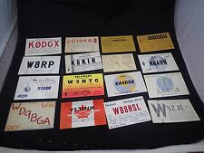 Lot of 16 Different Vintage Ham amateur radio Call Cards QSL QSO Postcards #2