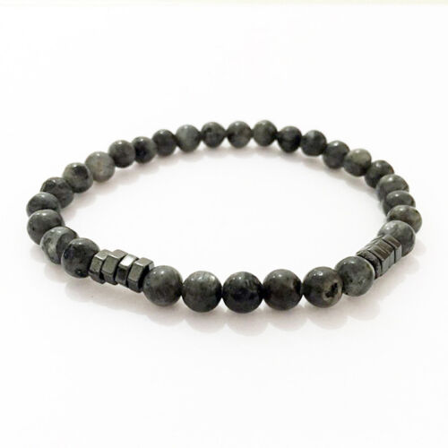 Men/'s Onyx and Hematite Beads Gemstone Bracelet Healing Lucky Stone Chain N7