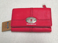 Fossil Marlow Leather Multifunction Wallet Pink