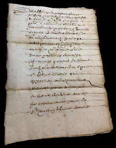 ANTIQUE MANUSCRIPT 1659   8 pages