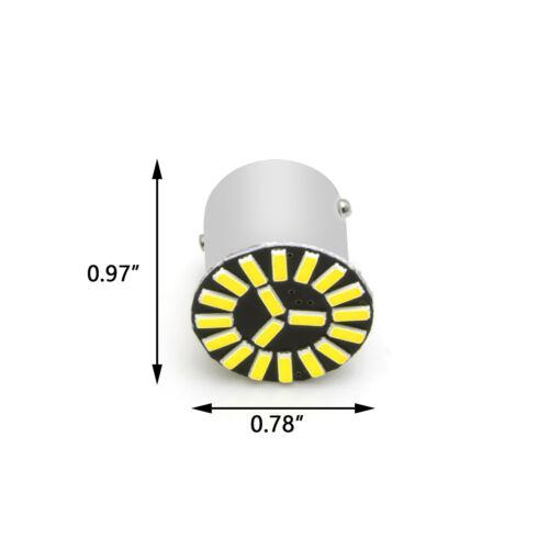 2pcs 7506 1156 Ba15s P21W LED 6000K Bright Xenon WHITE Backup Reverse Light Bulb