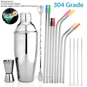 16PCS 500ml Cocktail Shaker Set Drink Matini Mixer Maker Bartender Bar Tools Kit