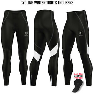 Hommes-Cyclisme-Collants-d-039-Hiver-Thermal-Rembourre-Pantalon-Cycle-Long-Pantalon-Legging-Roxx
