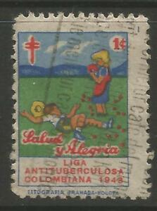 Christmas In Colombia South America.Details About Stamps Colombia 1943 Christmas 1c Anti T B Charity Poster Stamp Cancelled