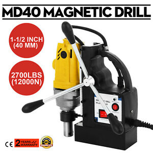 1100W-MD40-Magnetic-Drill-Press-40mm-Boring-12000N-Mag-Force-Industrial-Tapping