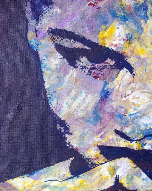 A0 canvas modern painting wall Graffiti Street Art Print girl woman face license