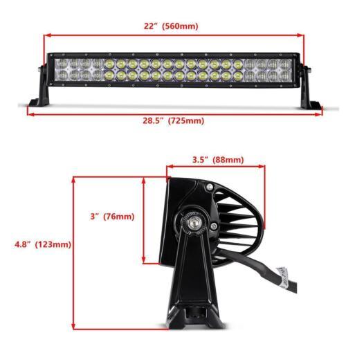 "22/"" 280W Curved CREE LED Light Bar Multi Colors Wireless Offroad Truck UTE UTV"