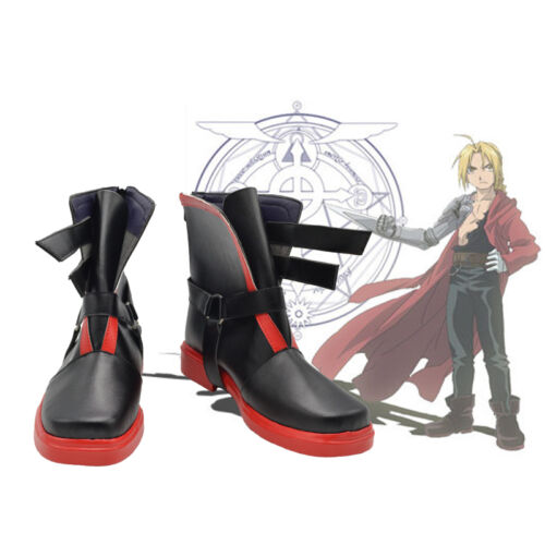 Fullmetal Alchemist Edward Elric/'s Cosplay Costume Boots Boot Shoes Shoe A.612