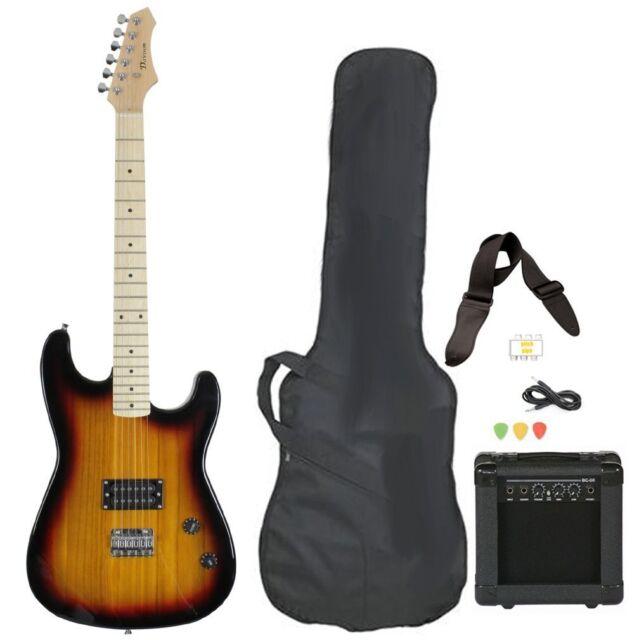 davison guitars electric guitar vintage sunburst full size with amp case cord strap and picks. Black Bedroom Furniture Sets. Home Design Ideas