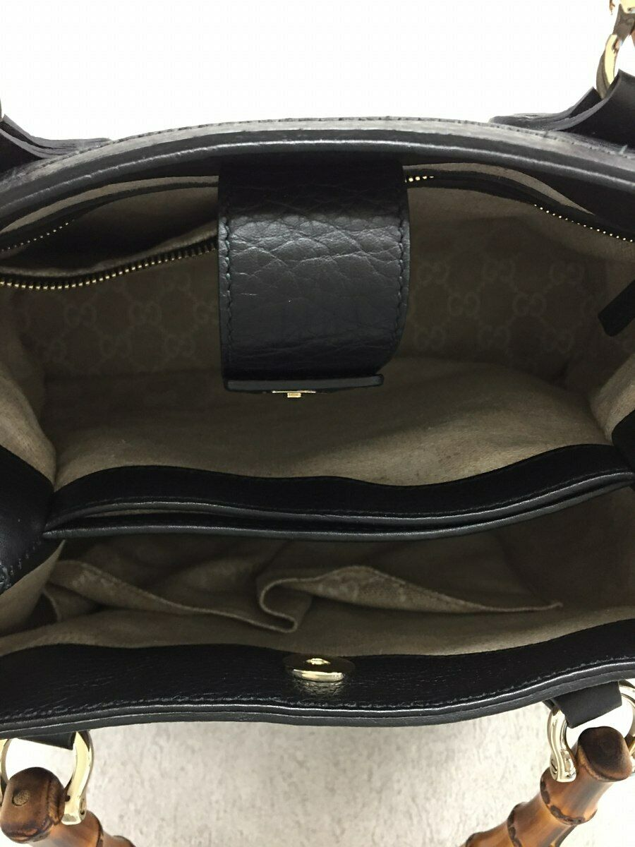 Used Gucci Diana Bamboo 2WAY Bag Leather Black Co… - image 5