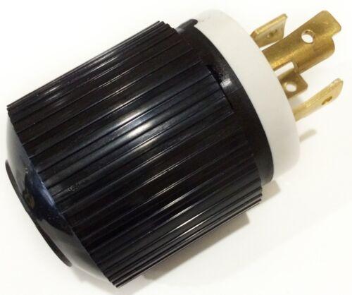 MALE L14-30P 220 POWER COER END 4-PRONG TWIST LOCK GENERATOR PLUG 30A 125//250V
