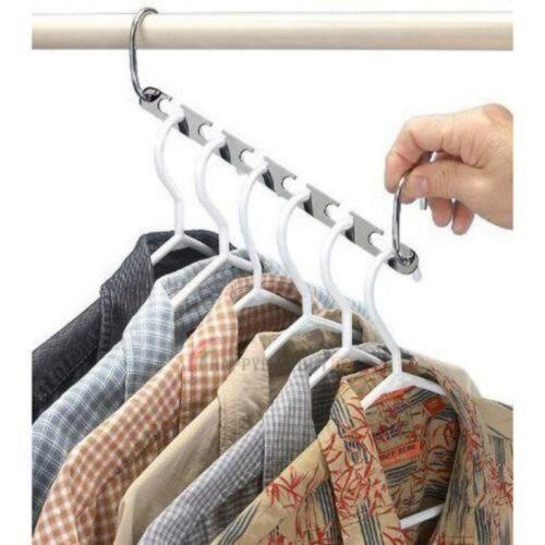 Kleiderhaken Kleiderschrank DHL Kleiderbügel 6 Stück Profi Raumsparbügel