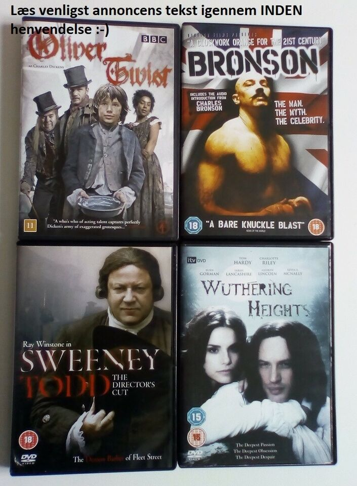 Bronson, Wuthering Heights, Sweeney Todd mm