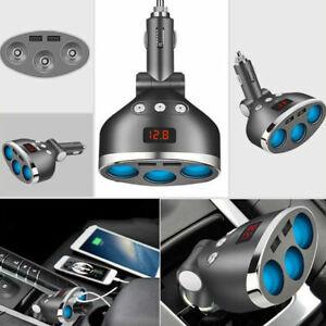 3-Way-Multi-USB-12V-Car-Charger-Cigarette-Lighter-Power-Socket-Splitter-Adapter