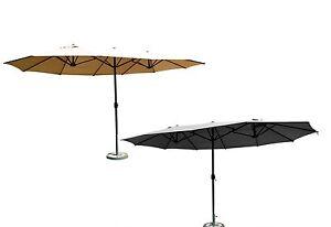 Leco Sonnenschirm Versch Farben Oval Sonnenschutz Gartenschirm