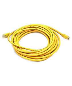 20ft Flat Cat5E UTP Stranded Network Ethernet Cable Black Cat5 RJ45 LAN Wire