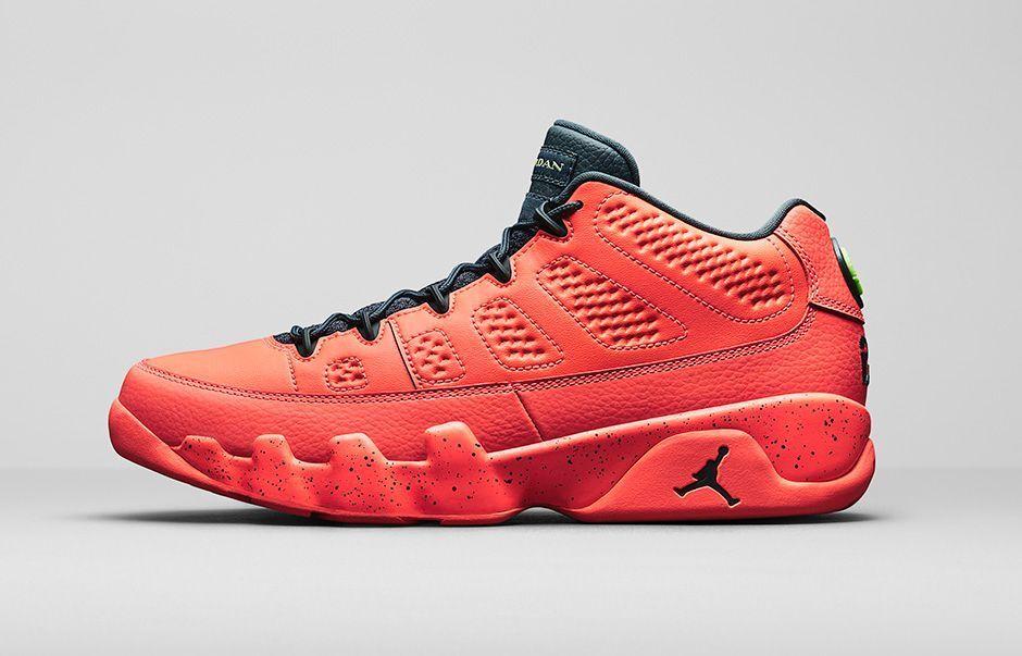 Nike Air Jordan 9 IX Low Bright Mango size 11. 832822-805. black red white